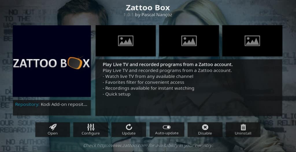 zattoo box kodi addon
