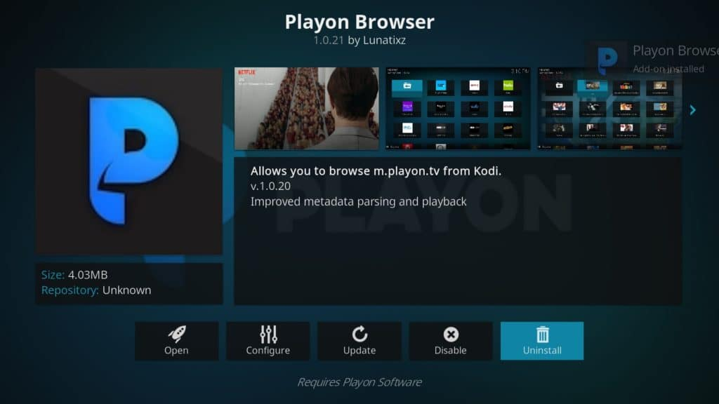 Playon best kodi tv addons 2019
