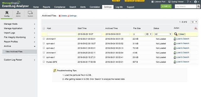 ManageEngine Event Log Analyzer