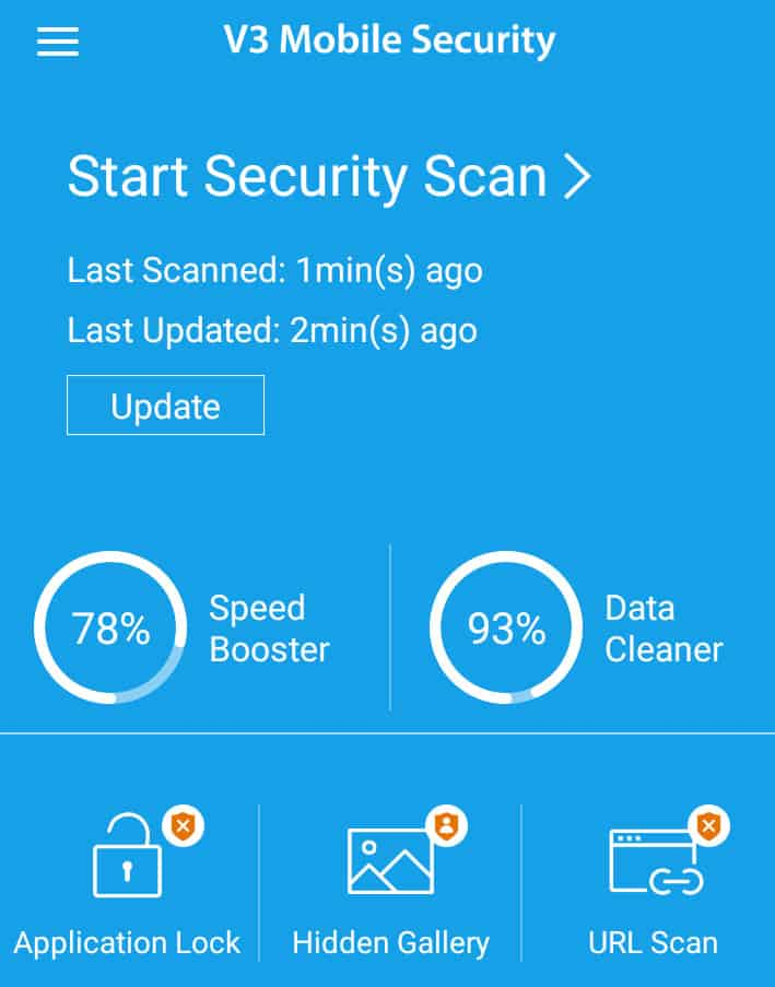 Antivirus v3 mobile security android ป้องกันไวรัส