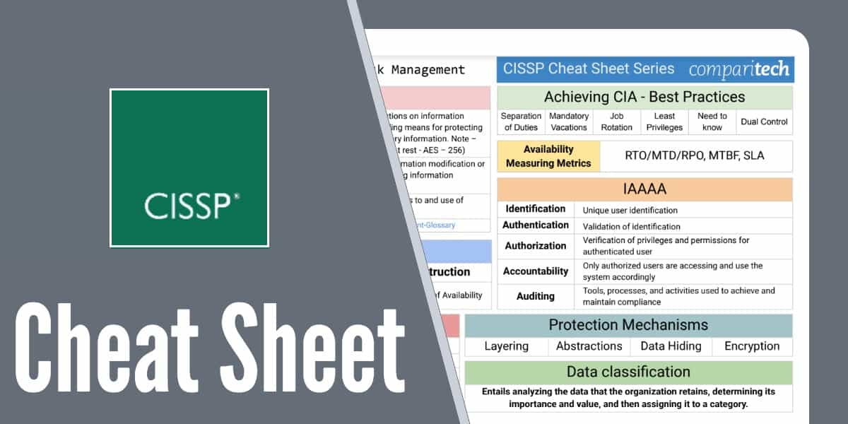 CISSP Cheat Sheet