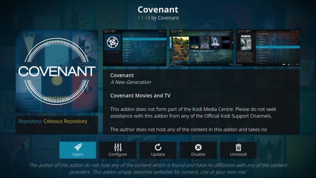 Covenant Addon для Kodi: стоит ли его устанавливать? Это безопасно?