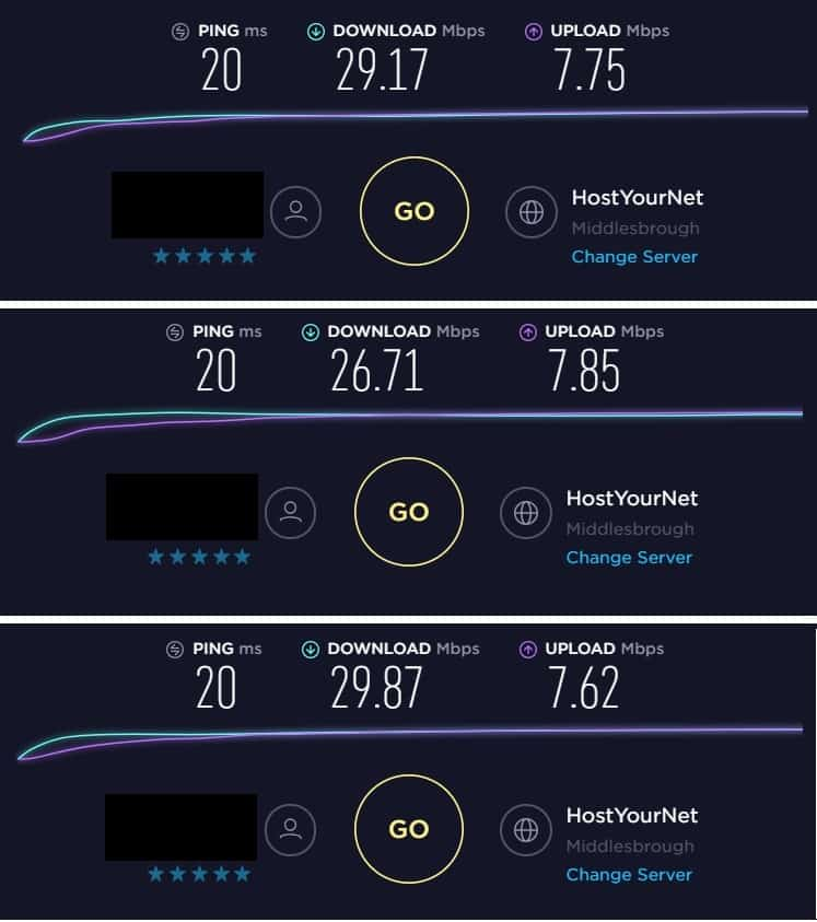 speedtest - expressvpn
