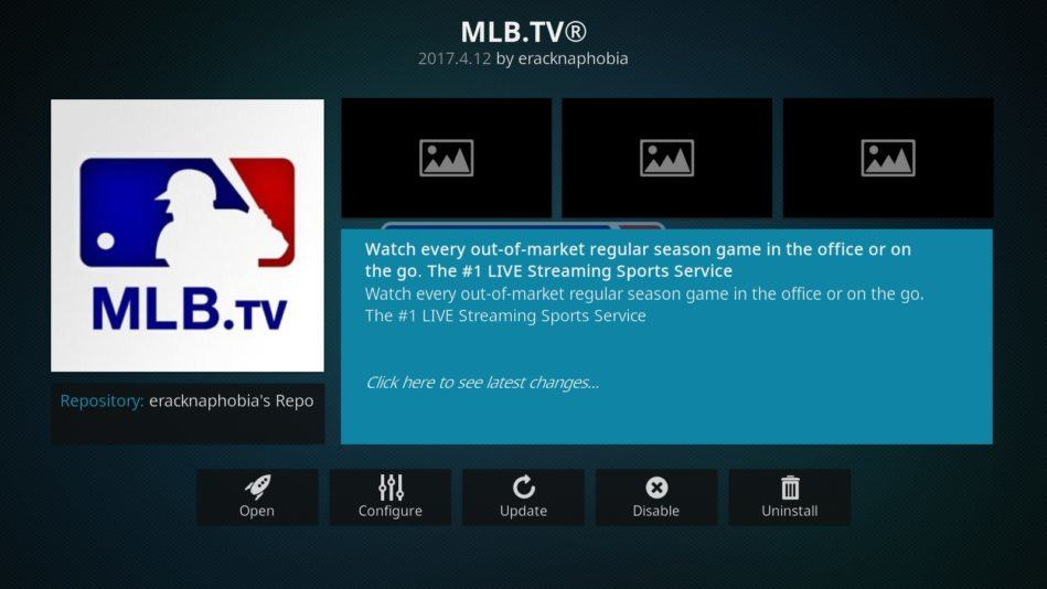 MLB pe Kodi MLB.tv