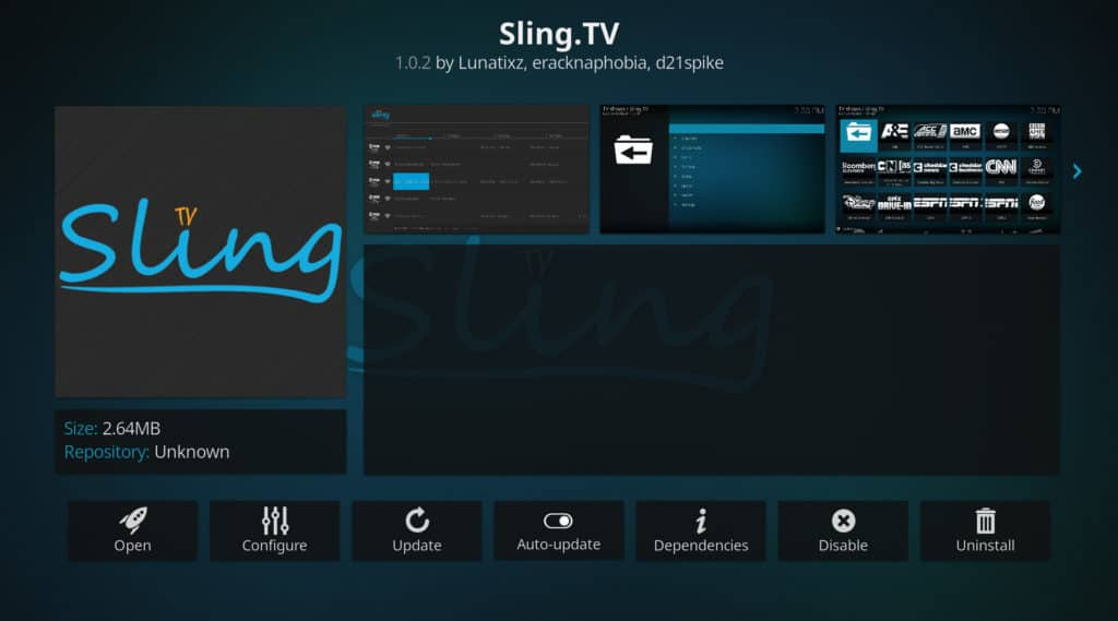 Sling TV kodi mlb 2019