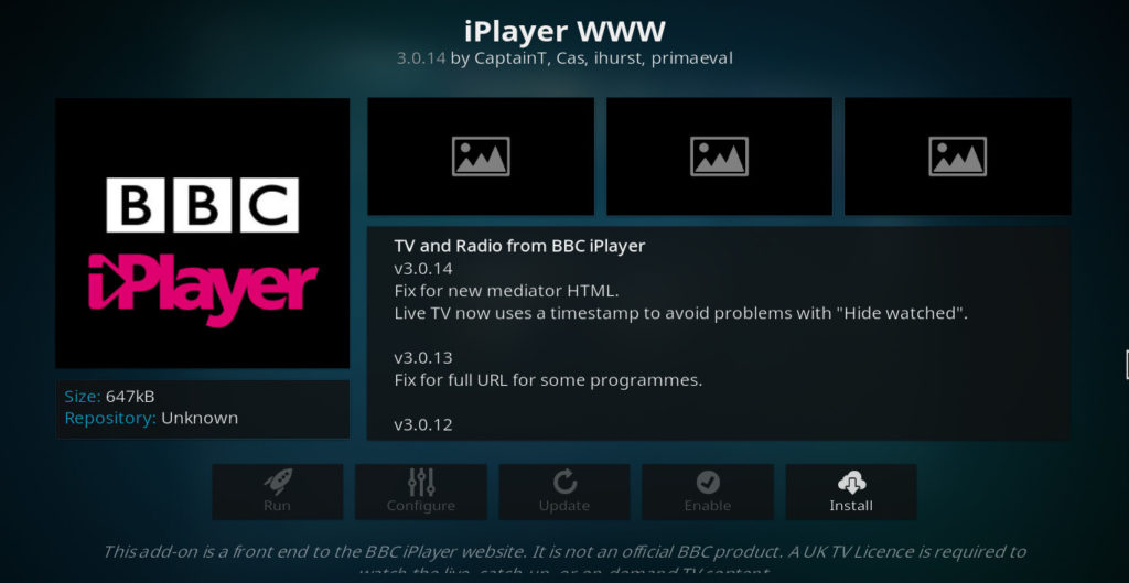 Alternative iPlayer la Exodus