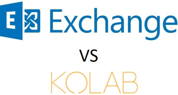 Microsoft Exchange Server срещу Kolab