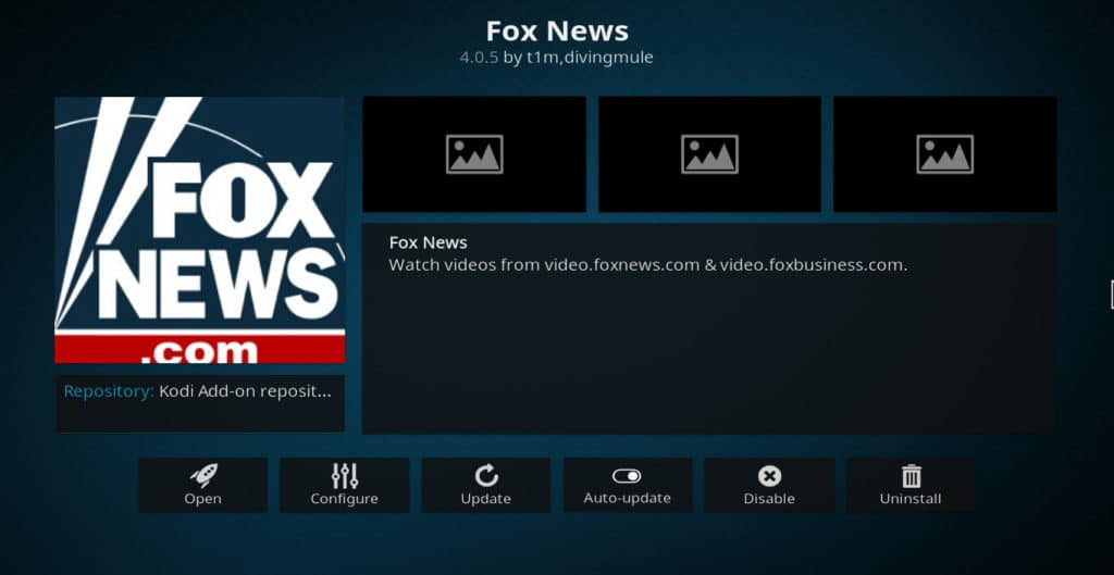 Fox News Kodi addon