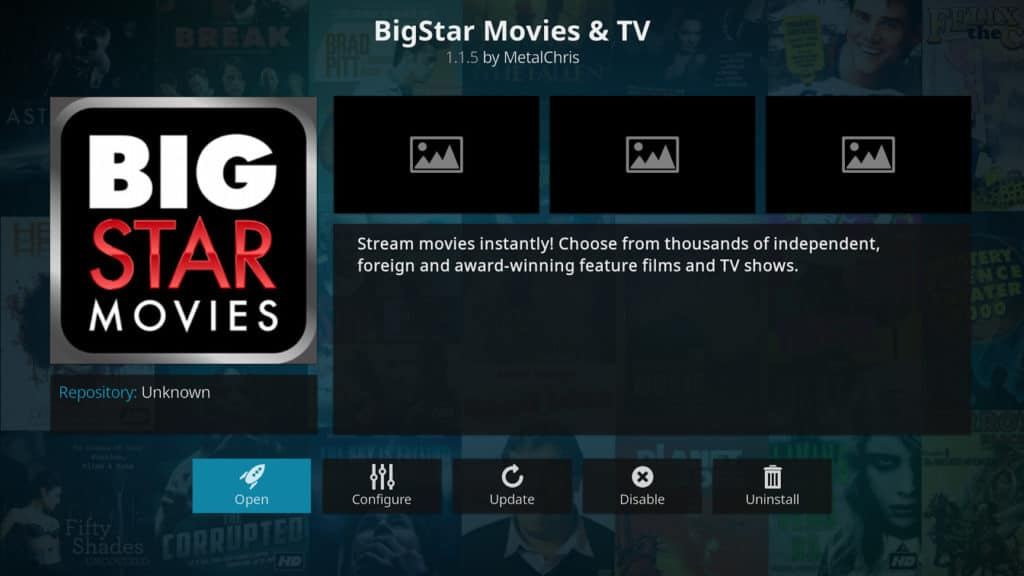 افزونه های BigStar Movies and TV Kodi