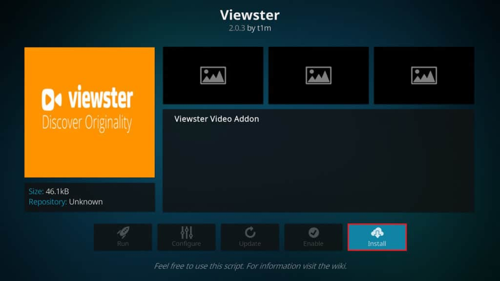 اطلاعات Kodi Viewter