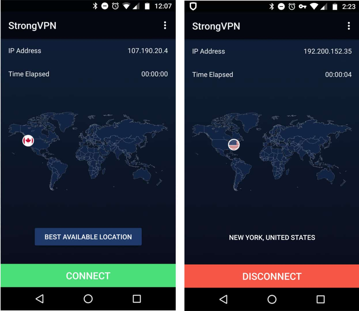 strongvpn android otthon