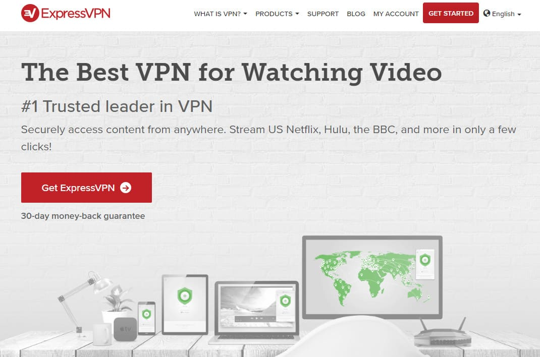 ExpressVPN streaming video