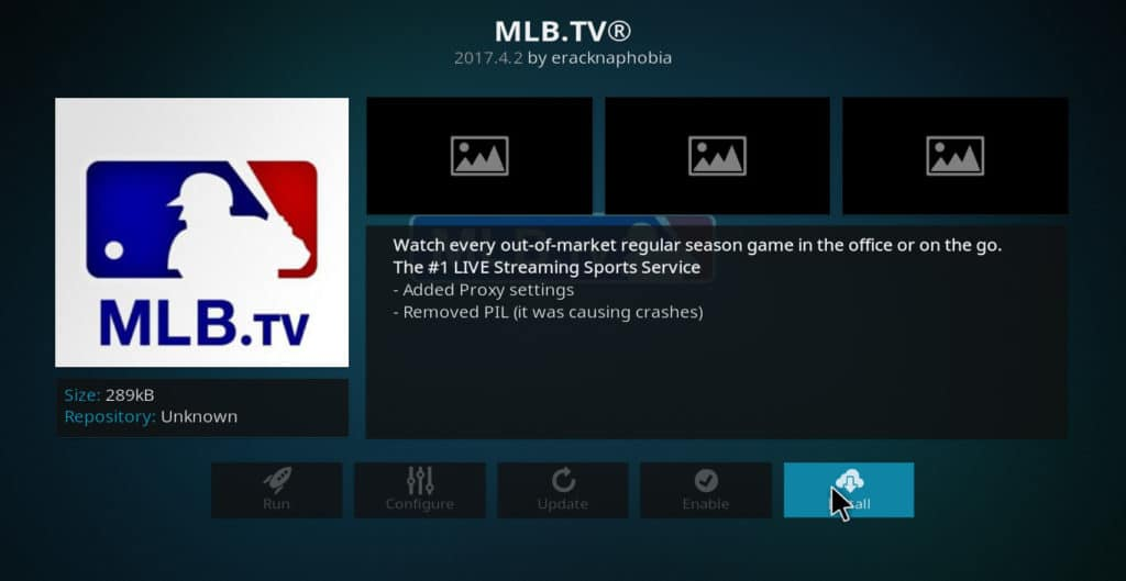 Instalare MLB.tv Kodi