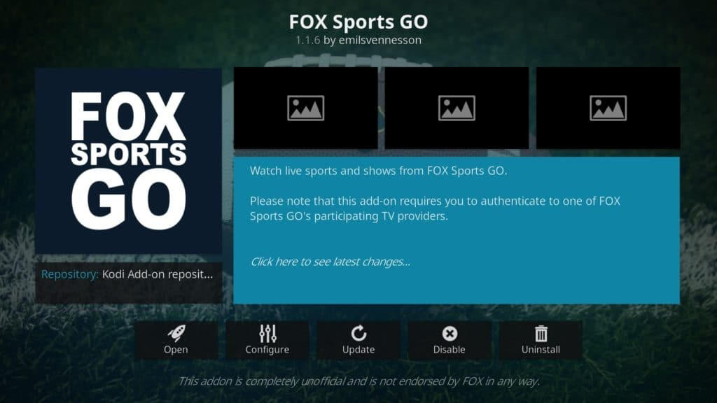 vulpe sports go kodi sports add-on-uri