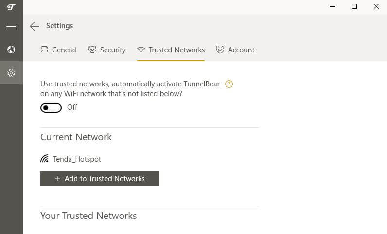 تب TunnelBear Trusted Networks.