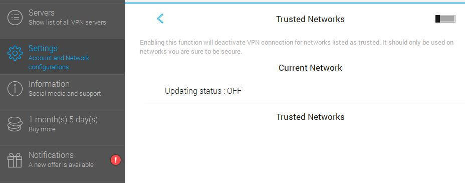 VPN Rețele de încredere nelimitate.