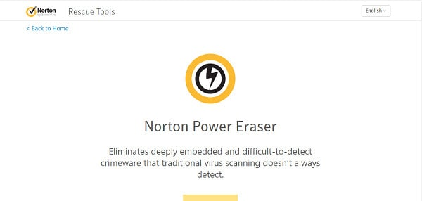 عکس پاک کن Norton Power Eraser