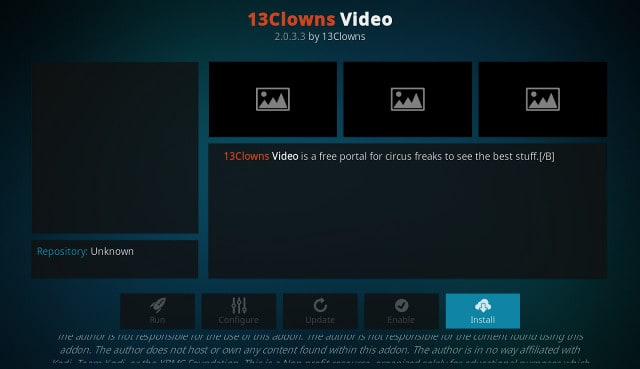 Kodi 13Clowns افزونه